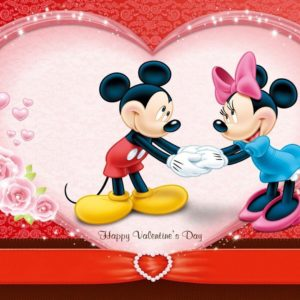download Cute Mickey Wishes Happy Valentines Day Wallpa #12086 Wallpaper …