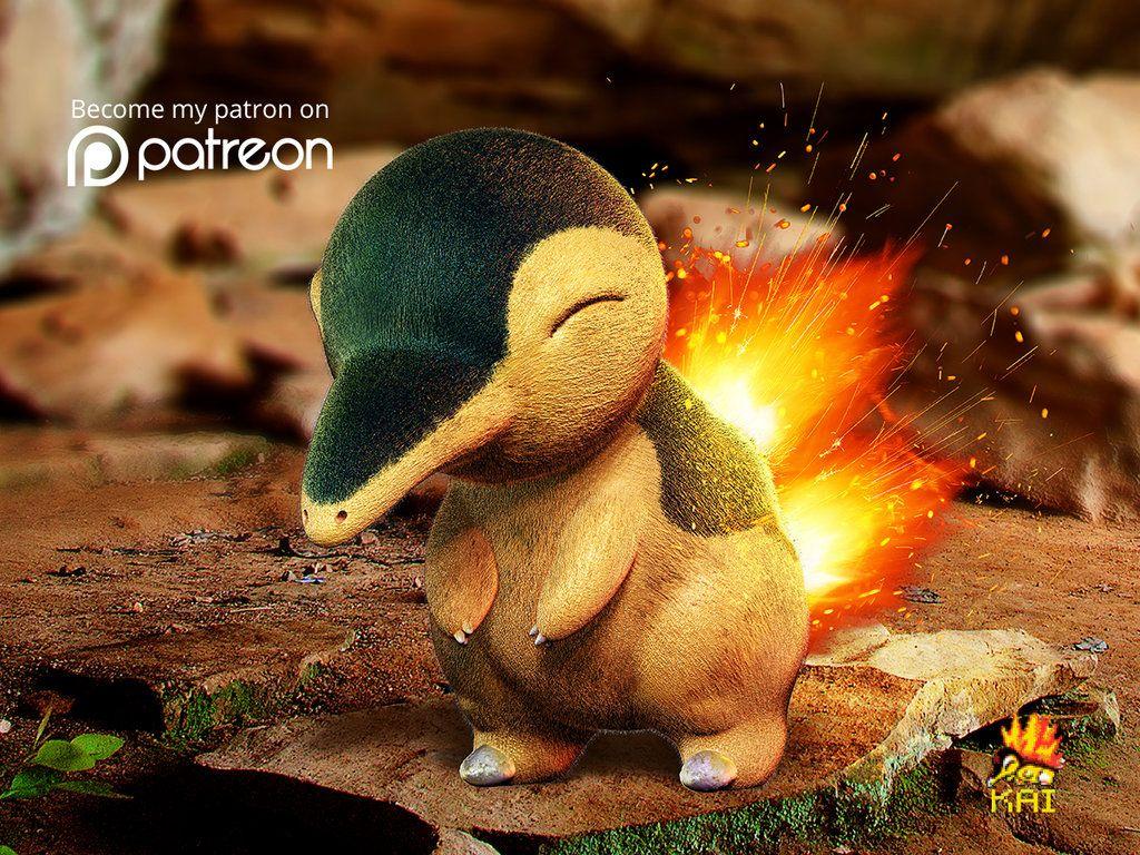 Realistic Pokemon: Cyndaquil by KaiKiato on DeviantArt