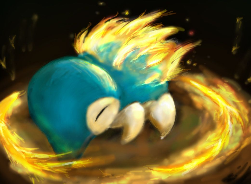 Cyndaquil used Fire Spin by sleepymiguel on DeviantArt