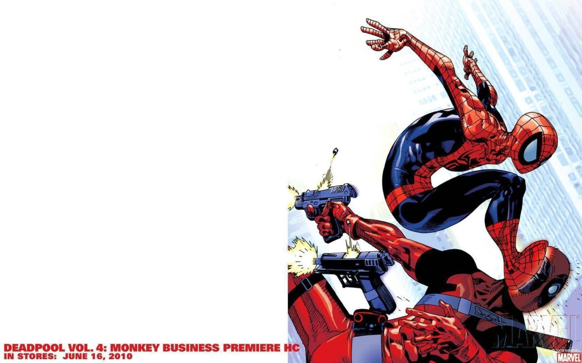 Wallpapers For > Deadpool Spiderman Wallpaper