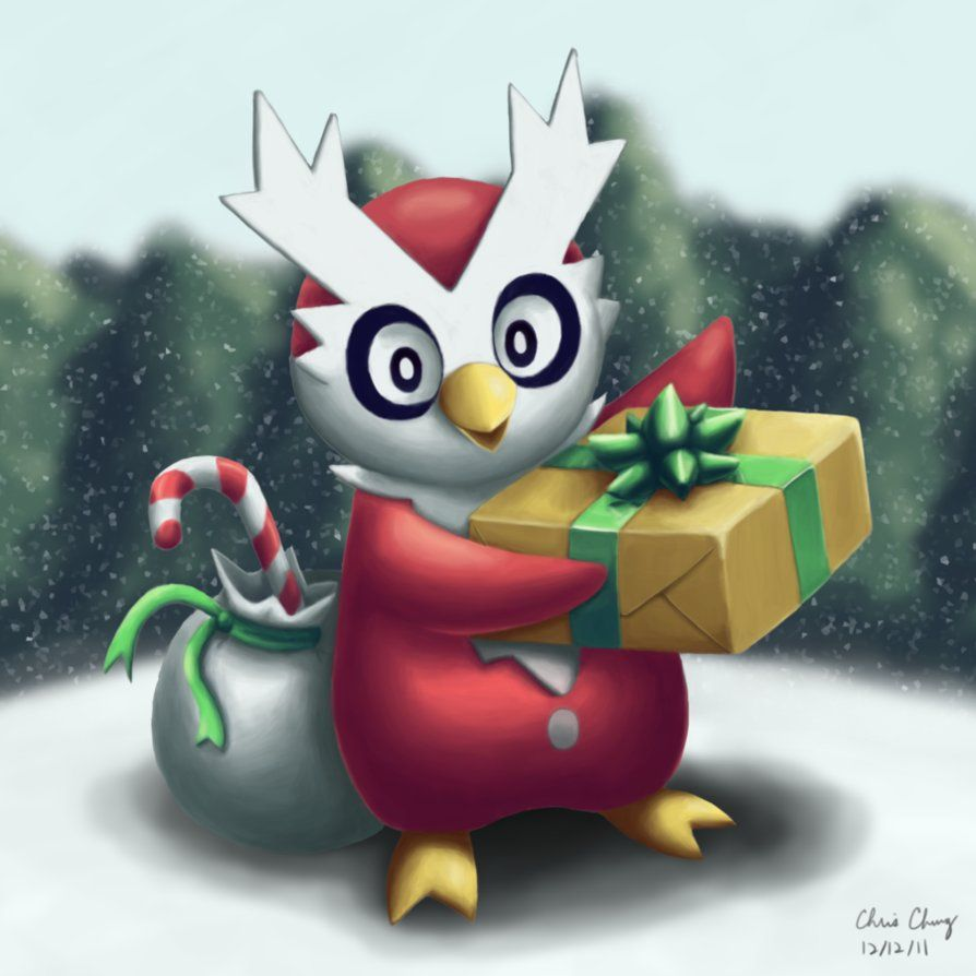 Christmas 2011 Delibird by Chrixeleon on DeviantArt