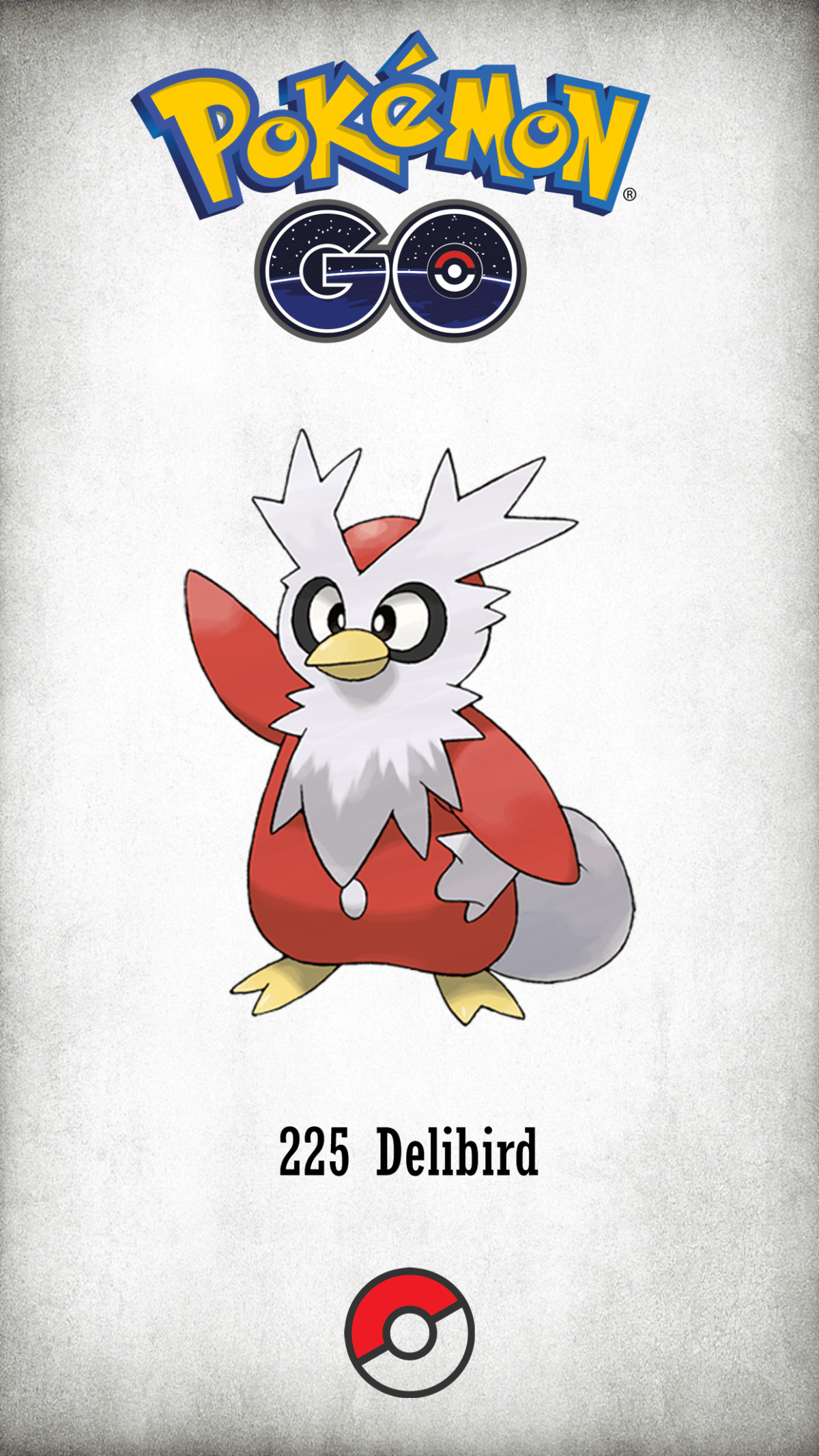 225 Character Delibird | Wallpaper