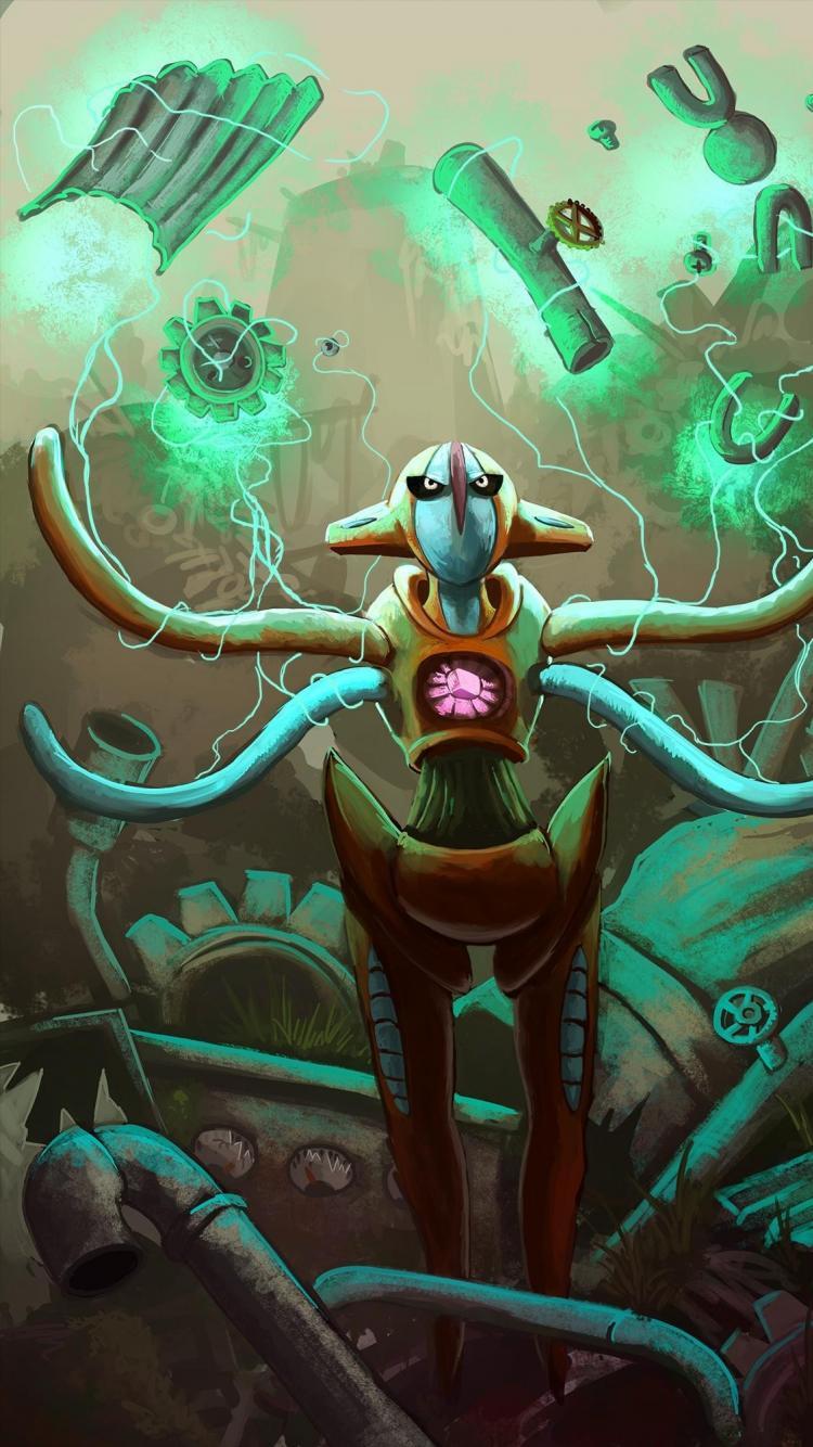 Digital art artwork lightning magnemite deoxys klink wallpaper …