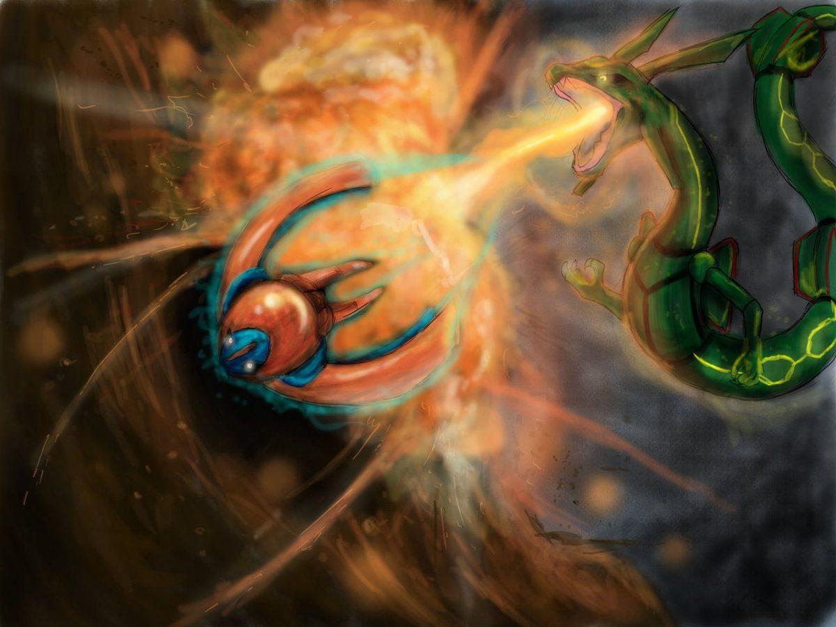 Rayquaza VS Deoxys by LordKomodo on DeviantArt