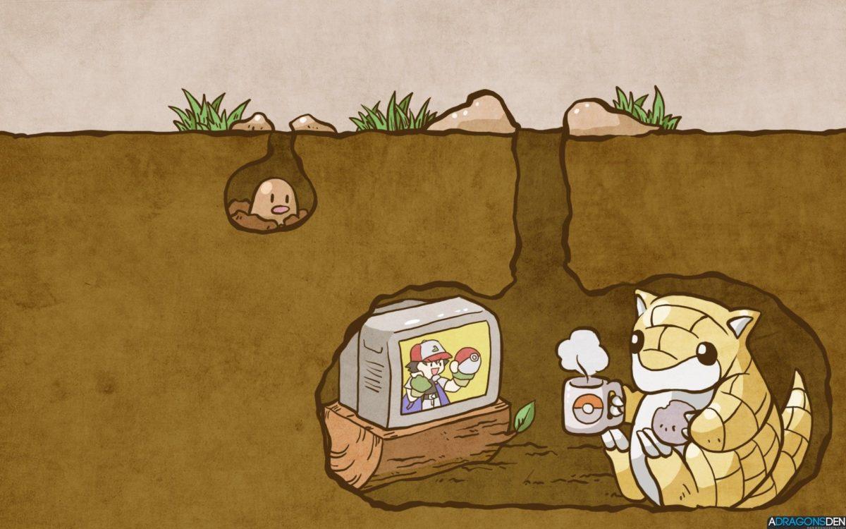 pokemon, video games, Diglett, Sandshrew :: Wallpapers