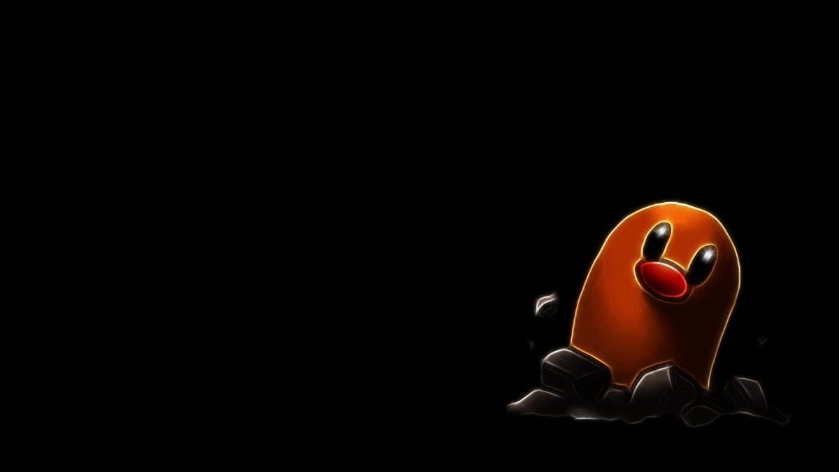 pokemon fractalius brown diglett worm black background 1600×900 …