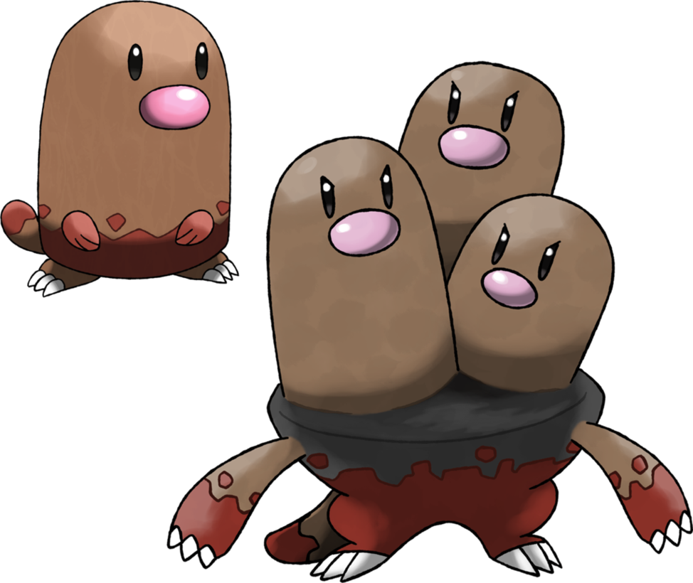 Diglett and Dugtrio (Surface Forms) by Marix20 on DeviantArt