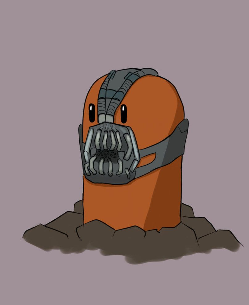 Diglett with Bane mask by bubblesx99 on DeviantArt