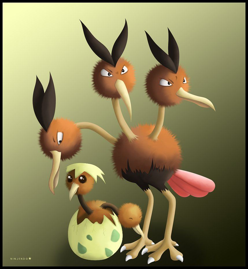 Doduo and Dodrio by Ninjendo on DeviantArt