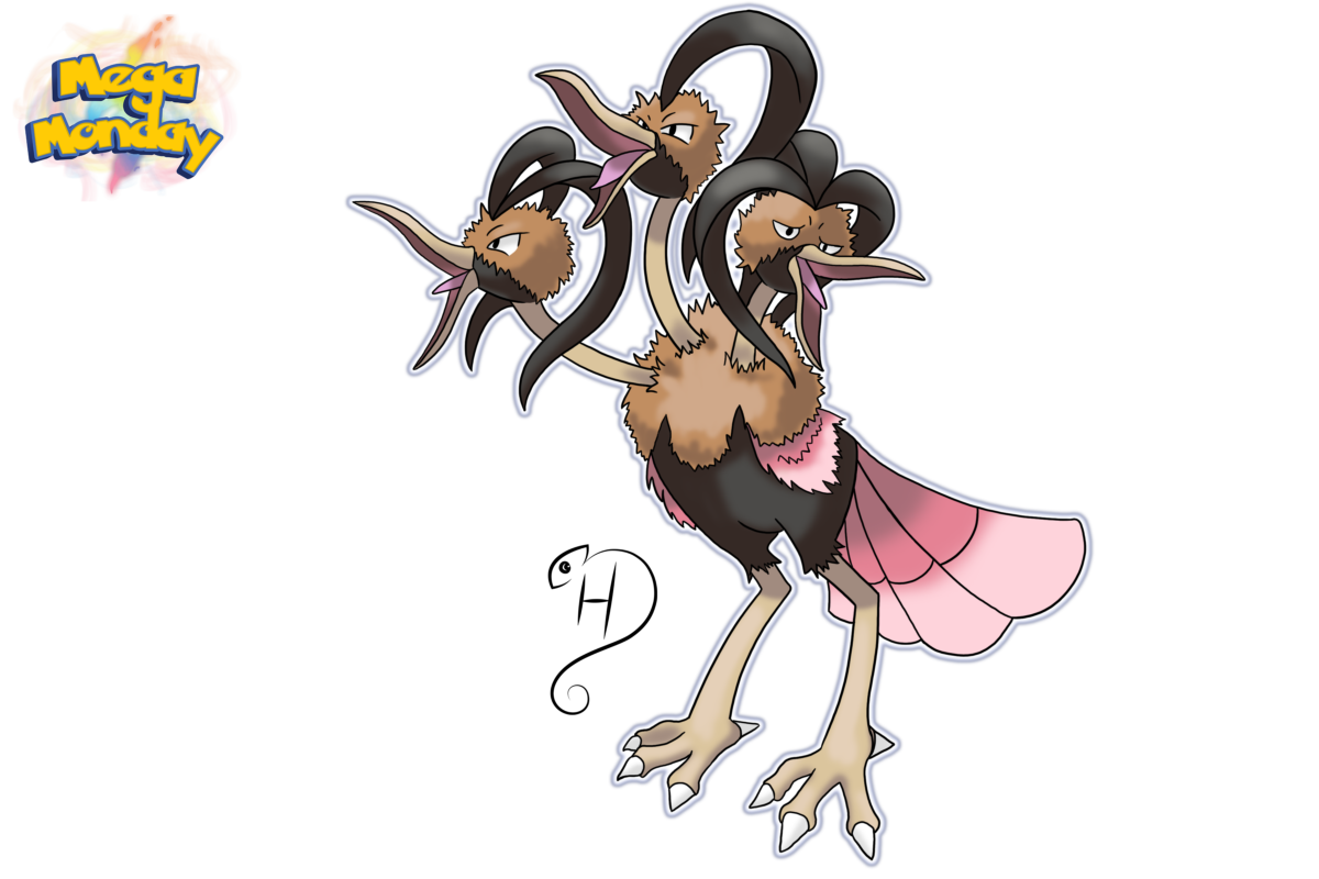 Mega Dodrio by cdhernly on DeviantArt
