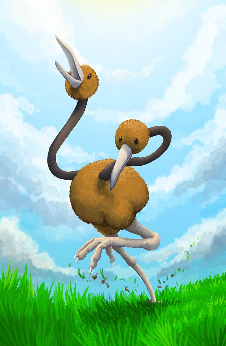 Doduo – On a run by Kampfkewob on DeviantArt