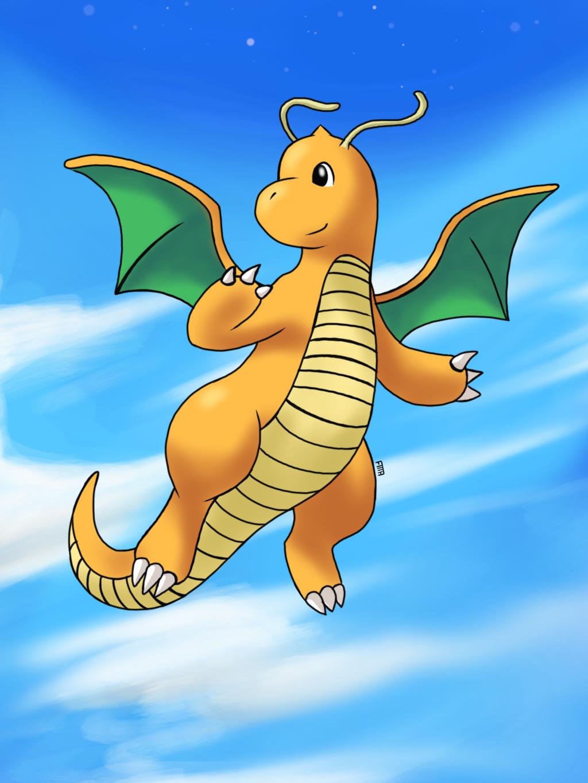 Dragonite Flying by fozcat5 on DeviantArt