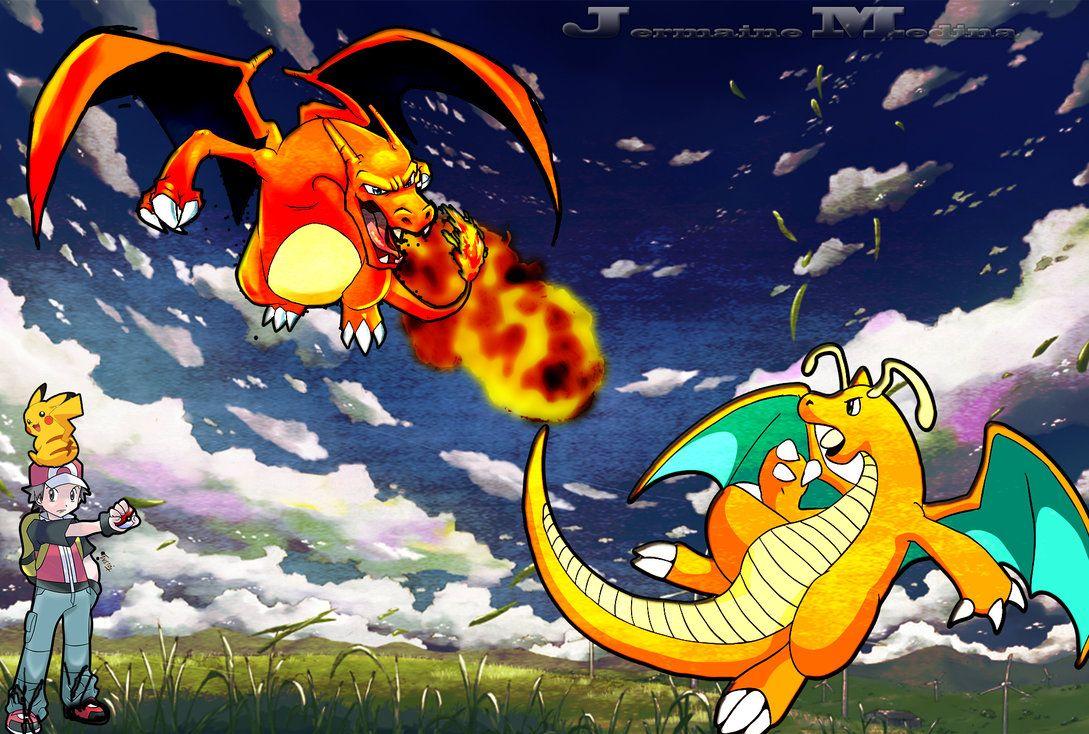 Charizard Vs Dragonite Wallpaper by Gamingthefudge on DeviantArt