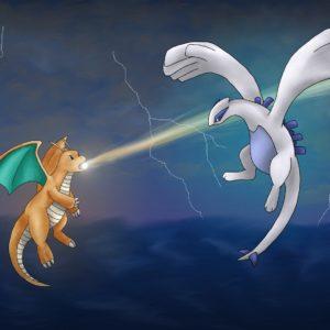 download Dragonite vs. Lugia by artisticpuppy on DeviantArt