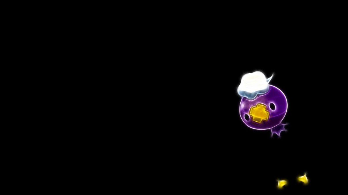 Drifloon fractalius pokemon black background wallpaper | (96361)