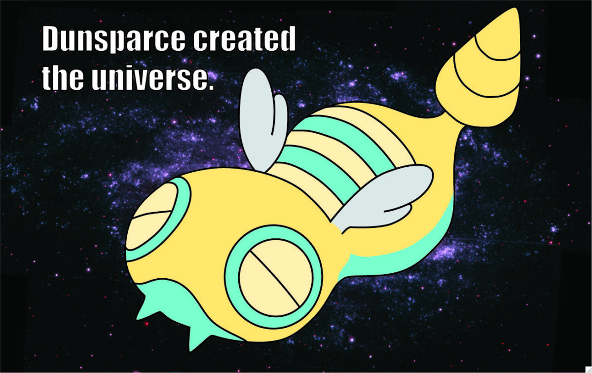 pokemon outer space dunsparce 1307×823 wallpaper High Quality …