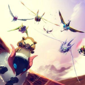 download Air force pokemon bug flying in the sky beautifly – venomoth- yanma …