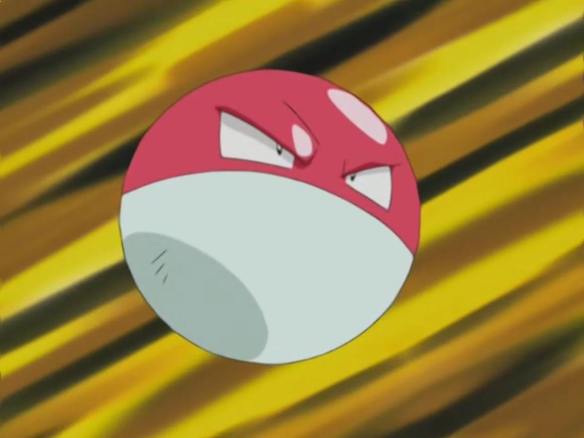 Wattson's Voltorb (anime)   Pokémon Wiki   FANDOM powered by Wikia