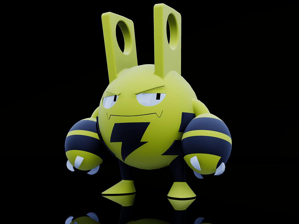 Pokémon Elekid, by Re, 3d AutoCad | art 3d | Pinterest | 3d autocad …