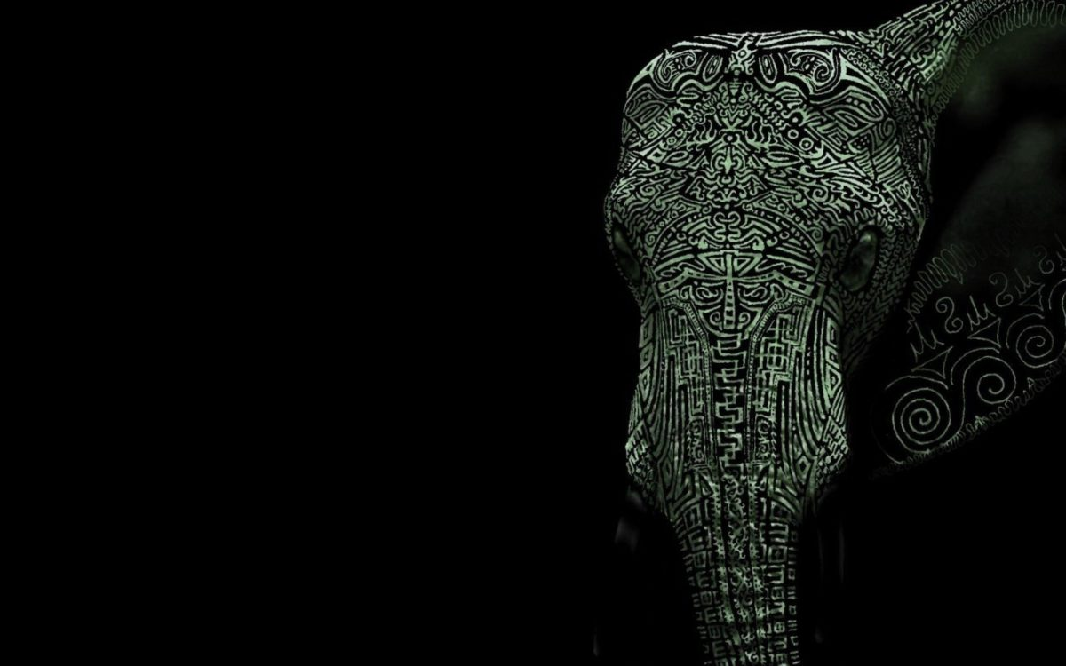Tattooed elephant Wallpaper #