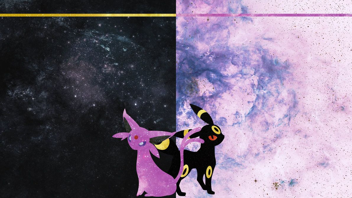 Espeon and Umbreon Desktop by DrBoxHead on DeviantArt