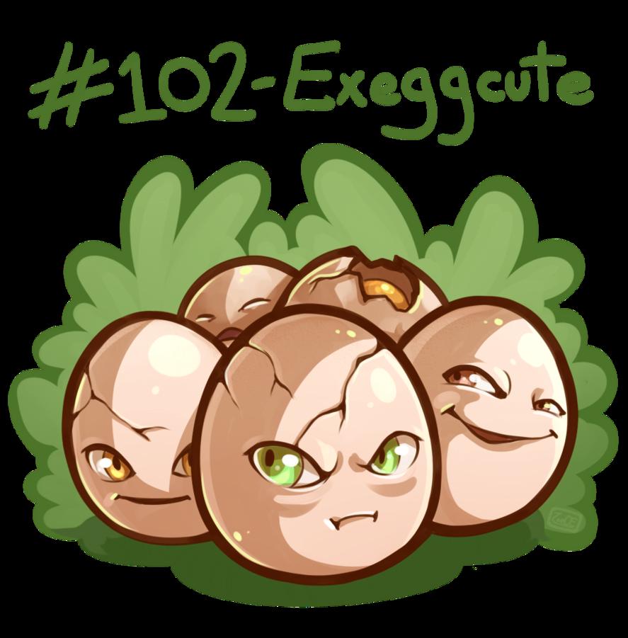102 – Exeggcute by oddsocket on DeviantArt