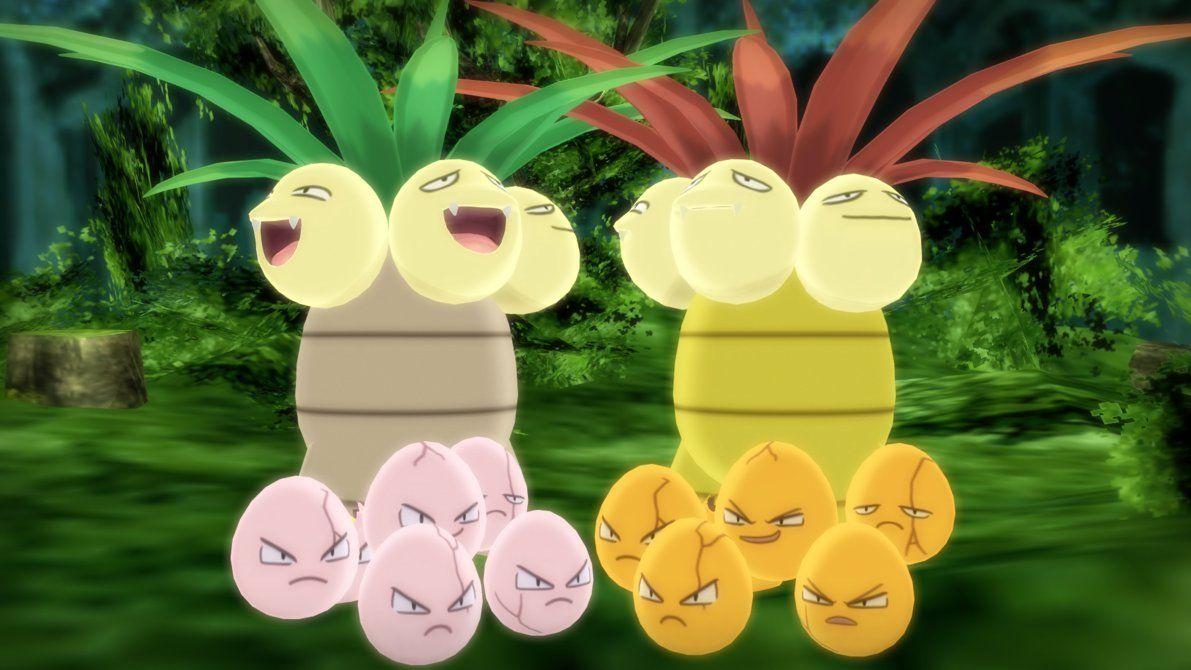 MMD PK Exeggcute and Exeggutor DL by 2234083174 on DeviantArt
