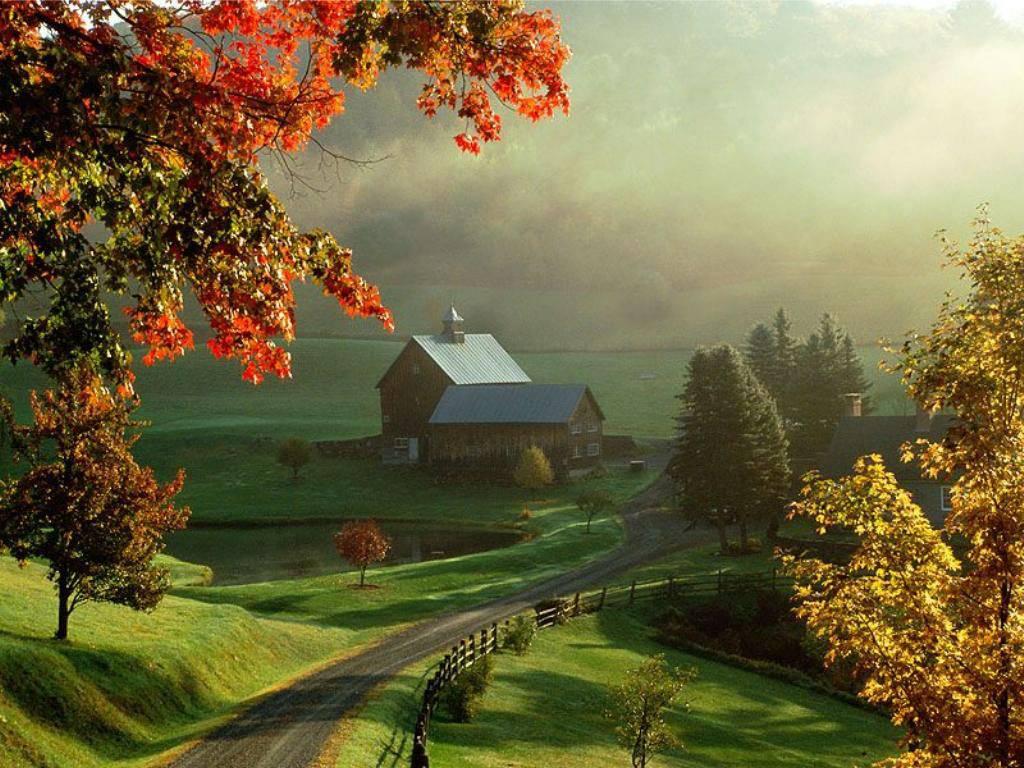 25 Scenic Autumn Desktop Wallpapers   Best Design Options