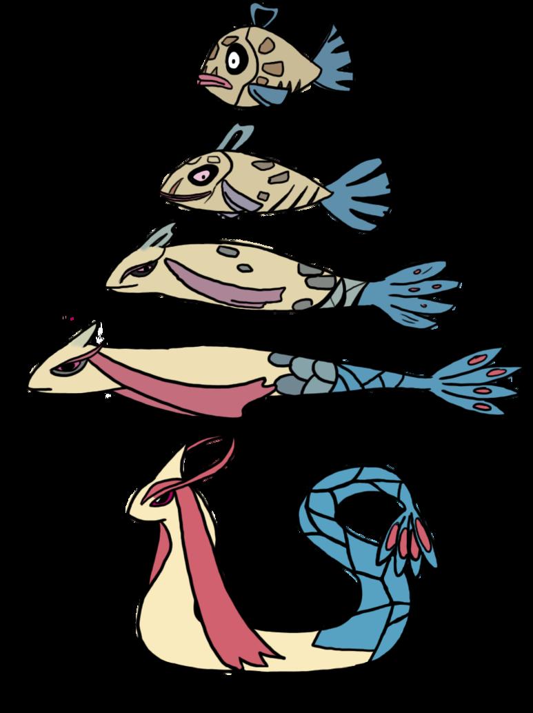pokemon- Feebas to milotic by Mariannefosho on DeviantArt