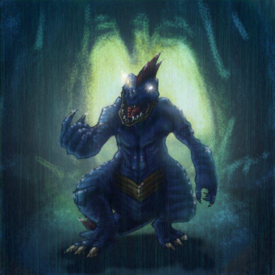Angry Feraligatr in wet cavern by ForeverZeroDragon on DeviantArt