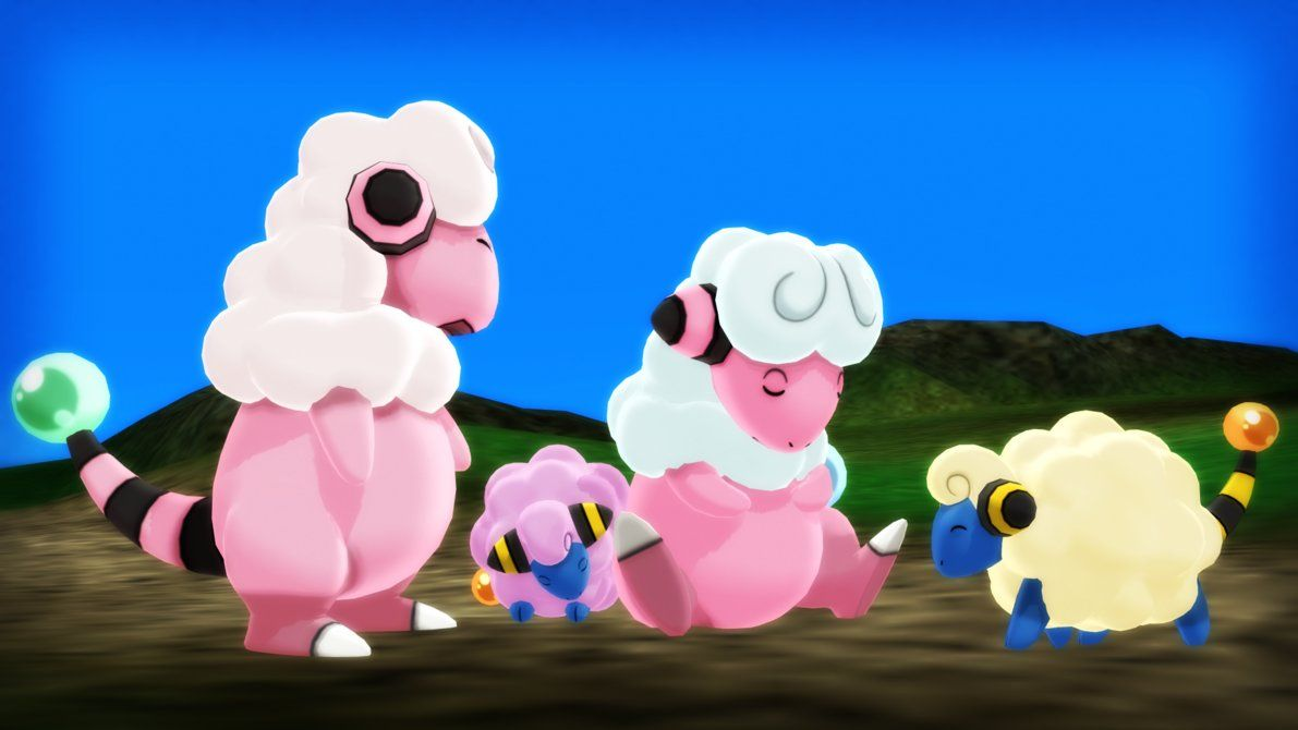 MMD PK Mareep and Flaaffy DL by 2234083174 on DeviantArt