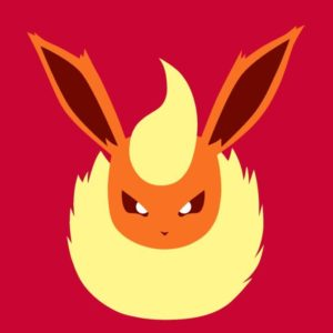 download FLAREON (Minimal Pokemon Art) Quad HD / QHD by electrodion on …