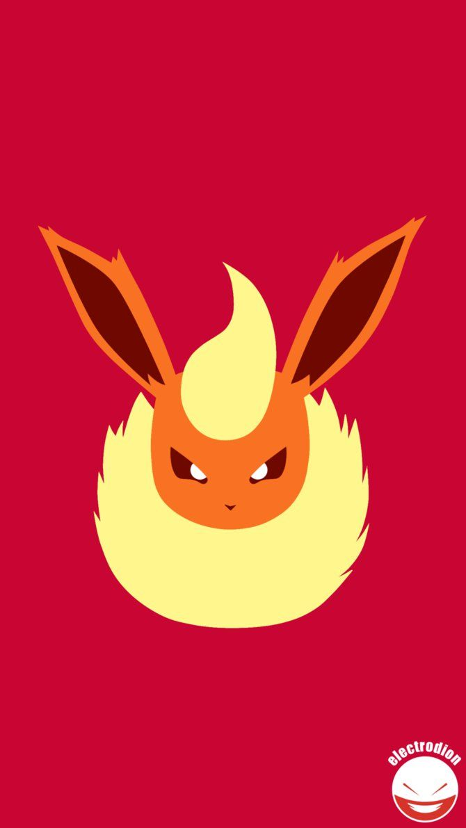 FLAREON (Minimal Pokemon Art) Quad HD / QHD by electrodion on …