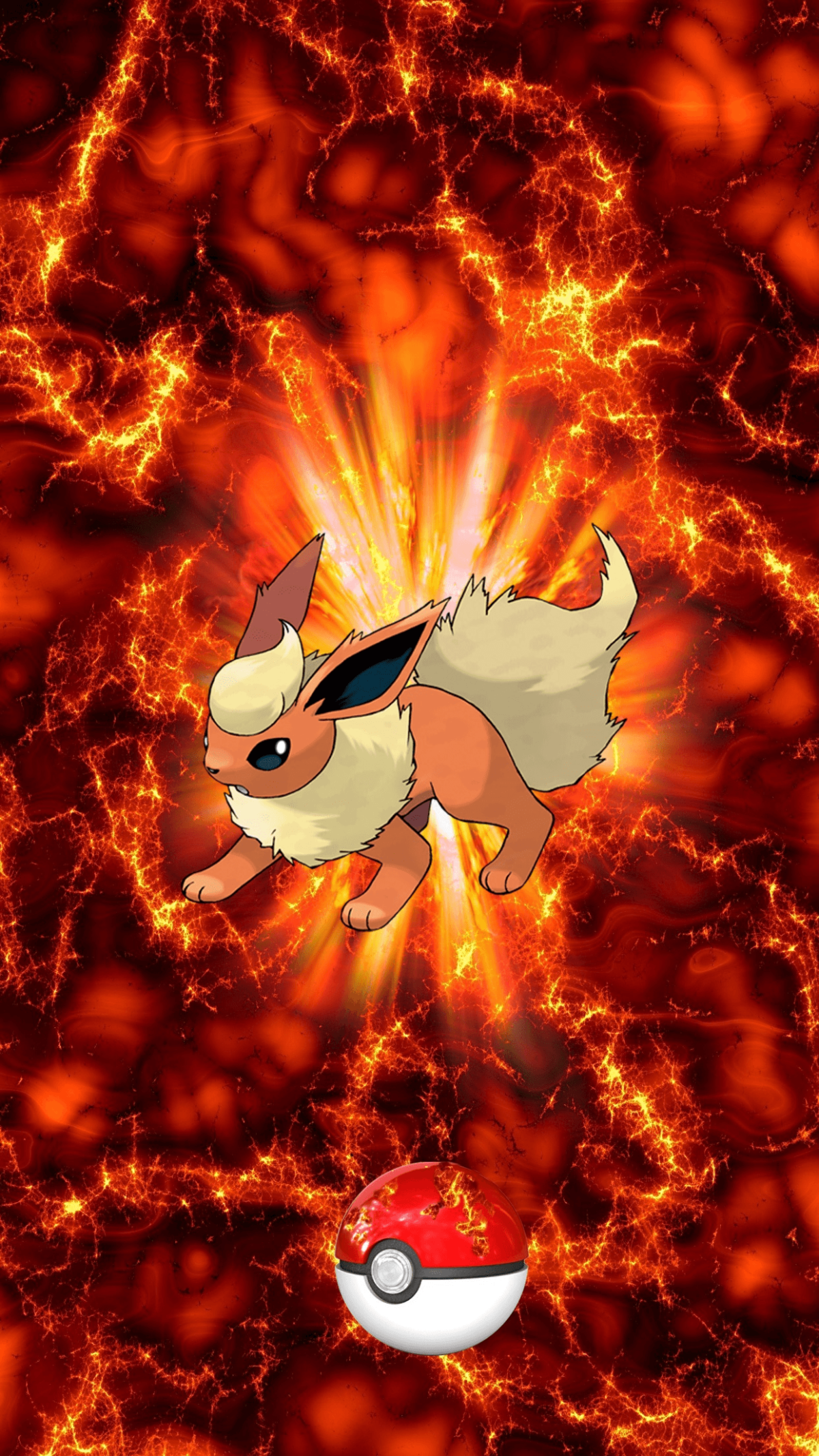 136 Fire Pokeball Flareon Booster Eevee | Wallpaper