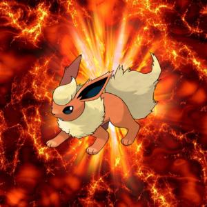 download 136 Fire Pokeball Flareon Booster Eevee | Wallpaper