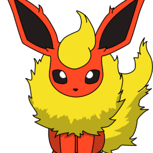 download Flareon Sitting PNG by ProteusIII.deviantart.com on @DeviantArt …