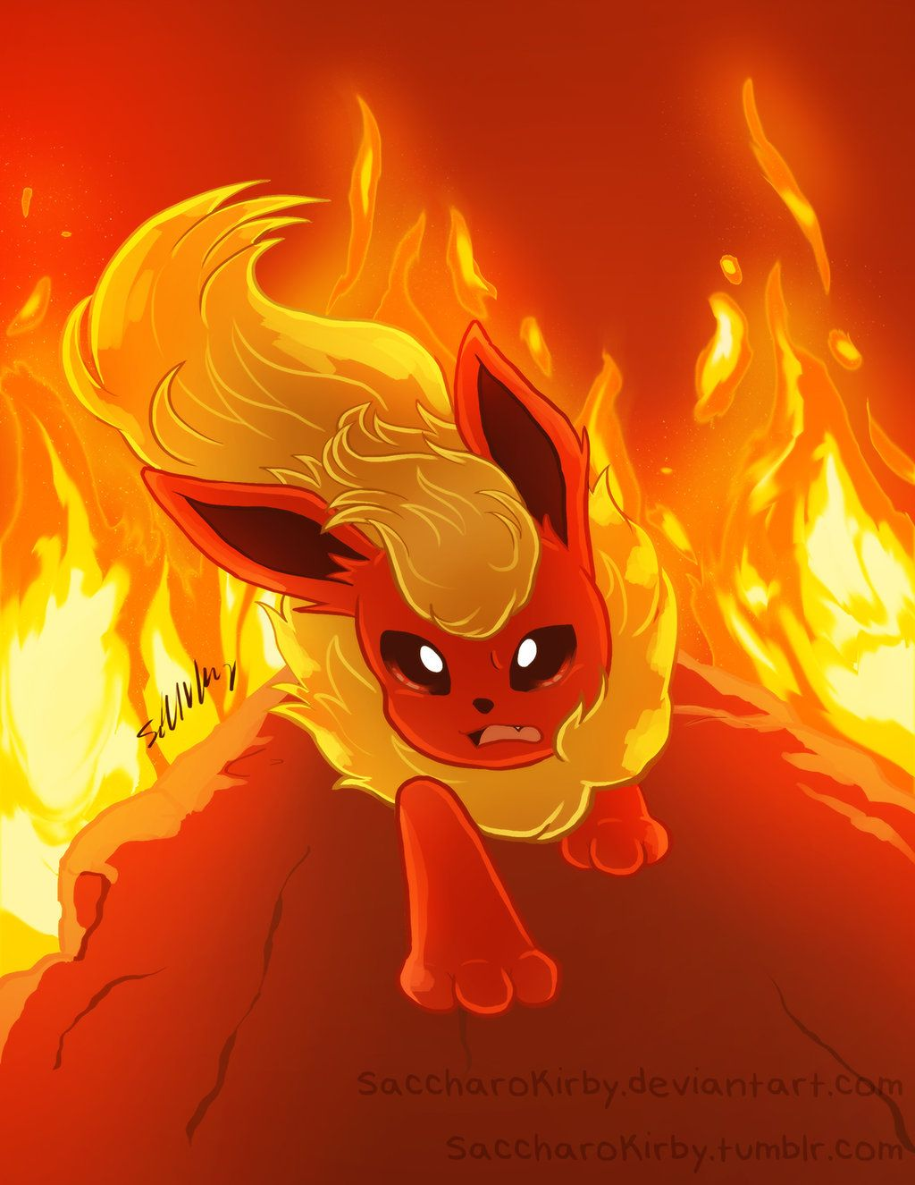 Eeveelution Drawing: Flareon by SaccharoKirby on DeviantArt