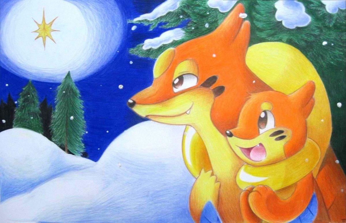 christmas spirit buizel pokemon floatzel