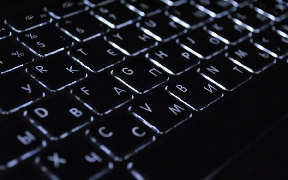 Black Keyboard Light buttons Full HD Wallpaper