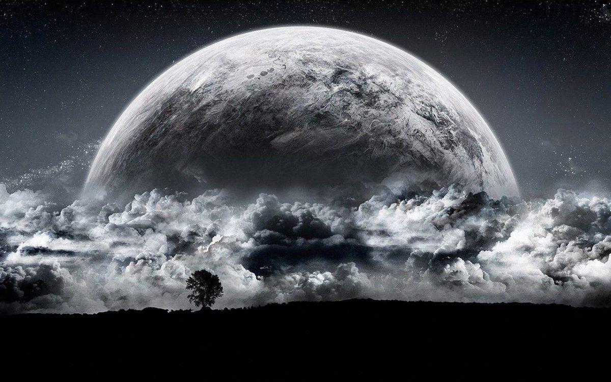 Full Moon HD Background – Universe Desktop Wallpaper
