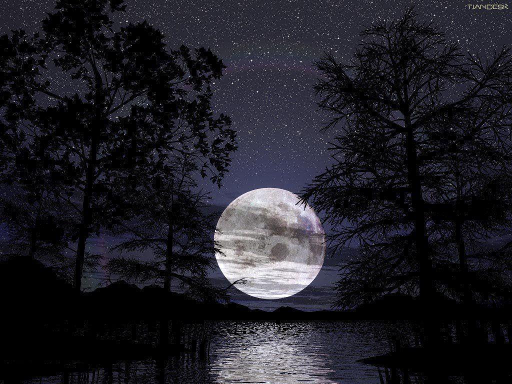 Full Moon Wallpaper Desktop | High Quality PC Dekstop Full HD …