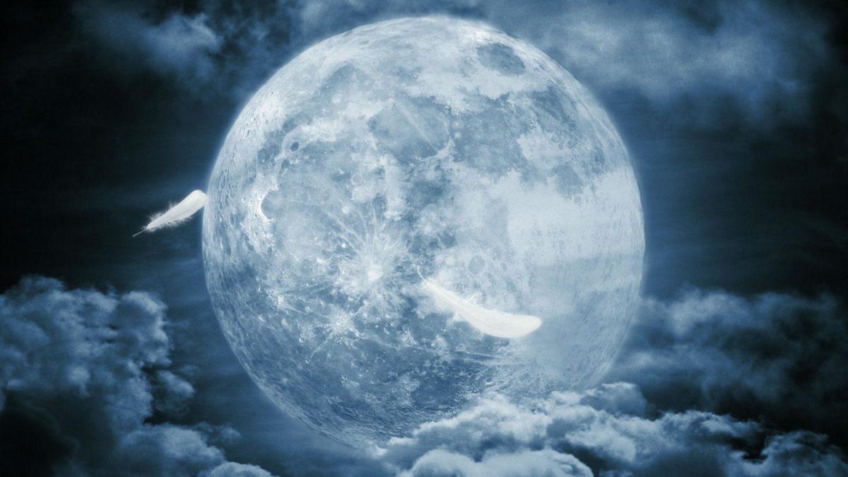 Wallpapers For > Dark Full Moon Wallpaper