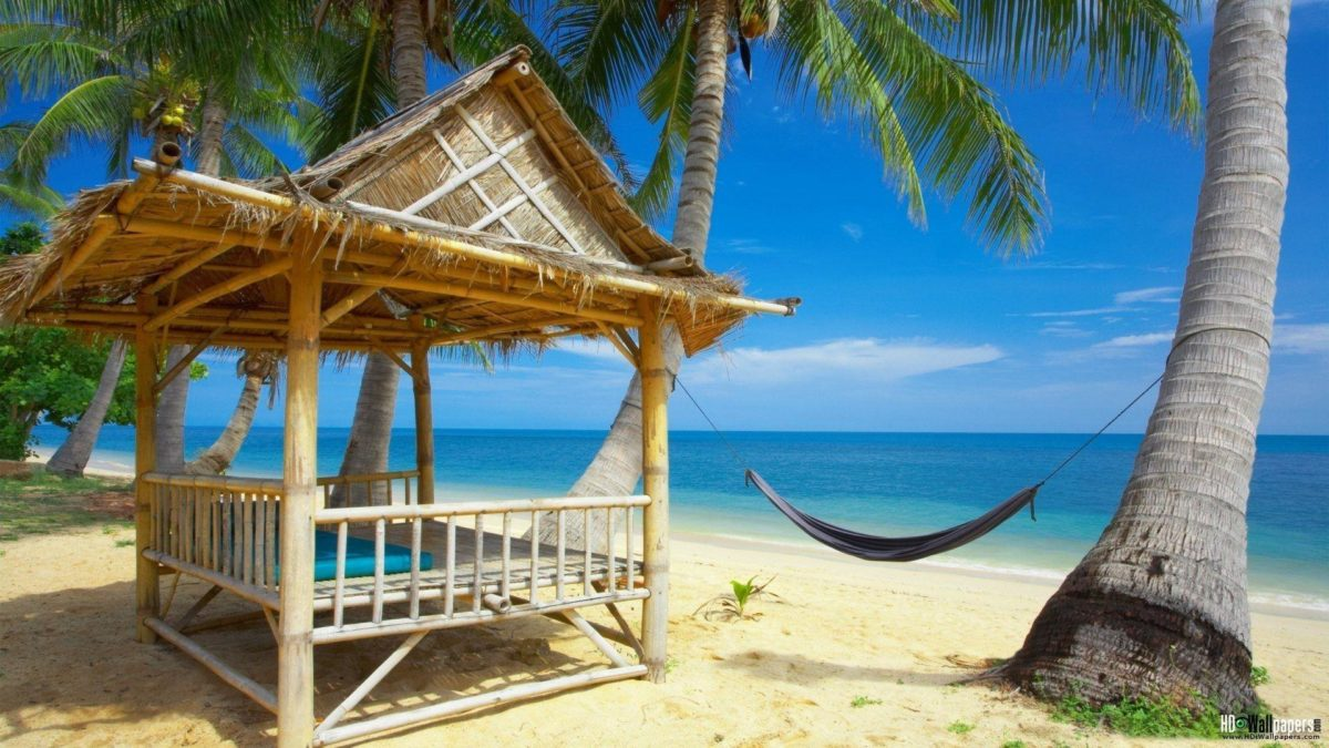 Tropical Beach Resort Wallpapers for Desktop Background Full …