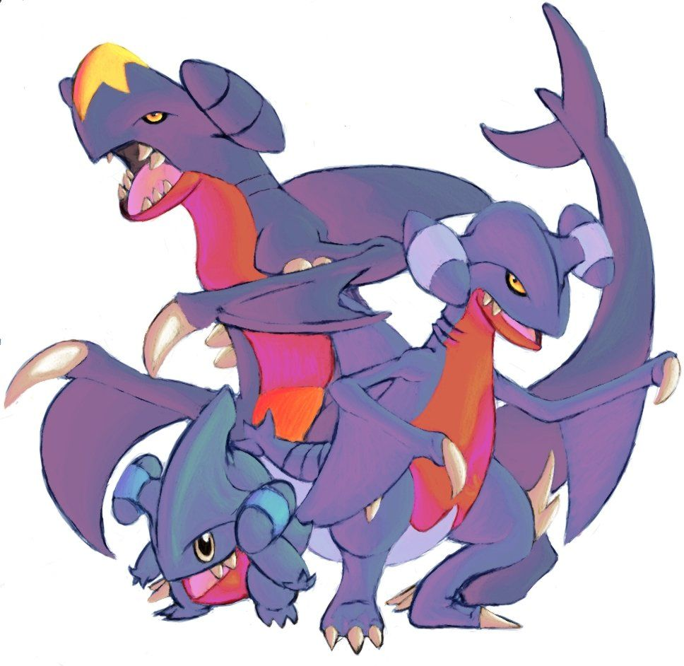 Garchomp, Gible and Gabite by DragonicDarkness on DeviantArt