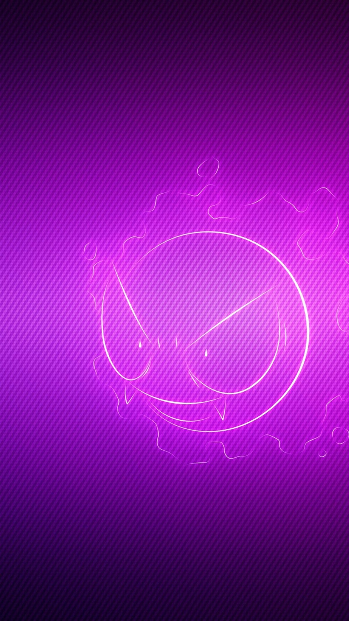 Download Wallpaper 1440×2560 Gastly, Pokemon, Purple, Light QHD …
