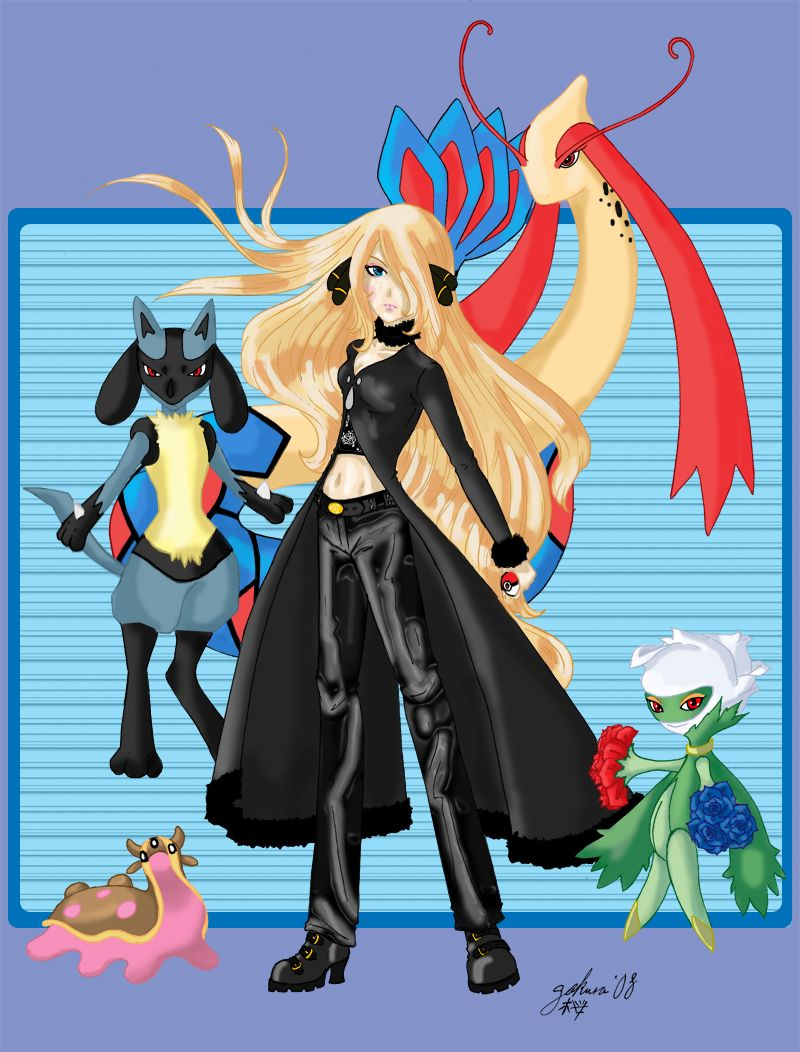 Pokemon Champion Cynthia images Cynthia and Her Team! HD wallpaper …