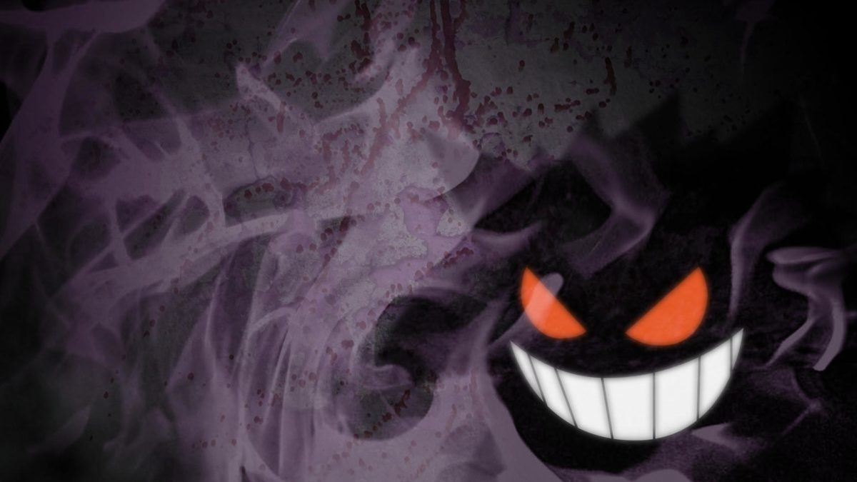 Got bored and threw together a Gengar wallpaper. : pokemon