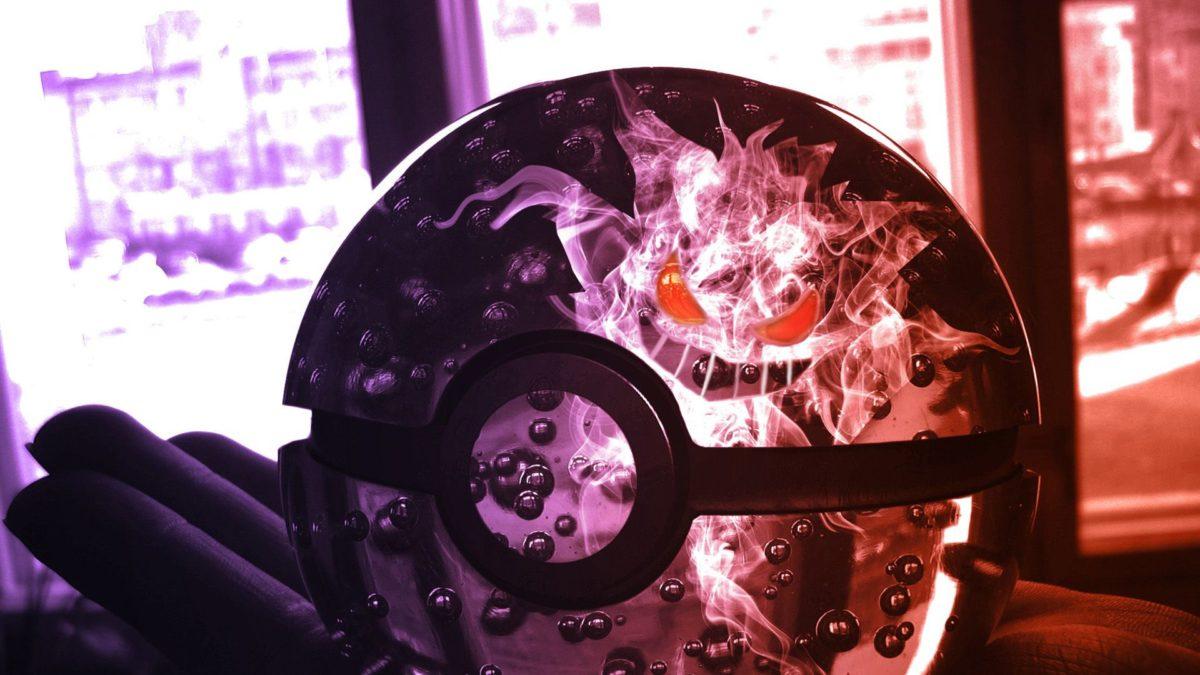 Poke Ball with Gengar HD Wallpaper » FullHDWpp – Full HD …