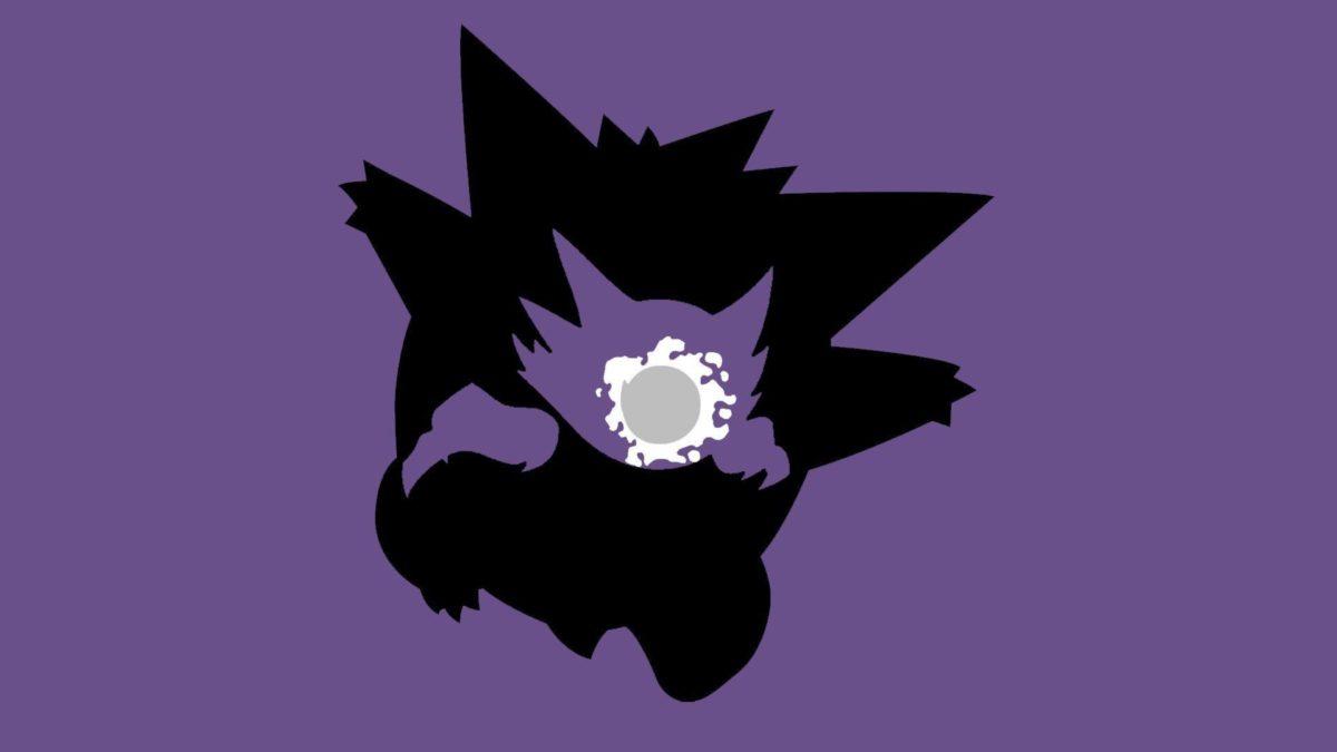 Pokemon, Ghastly, Haunter, Gengar, Simple background, Minimalism …