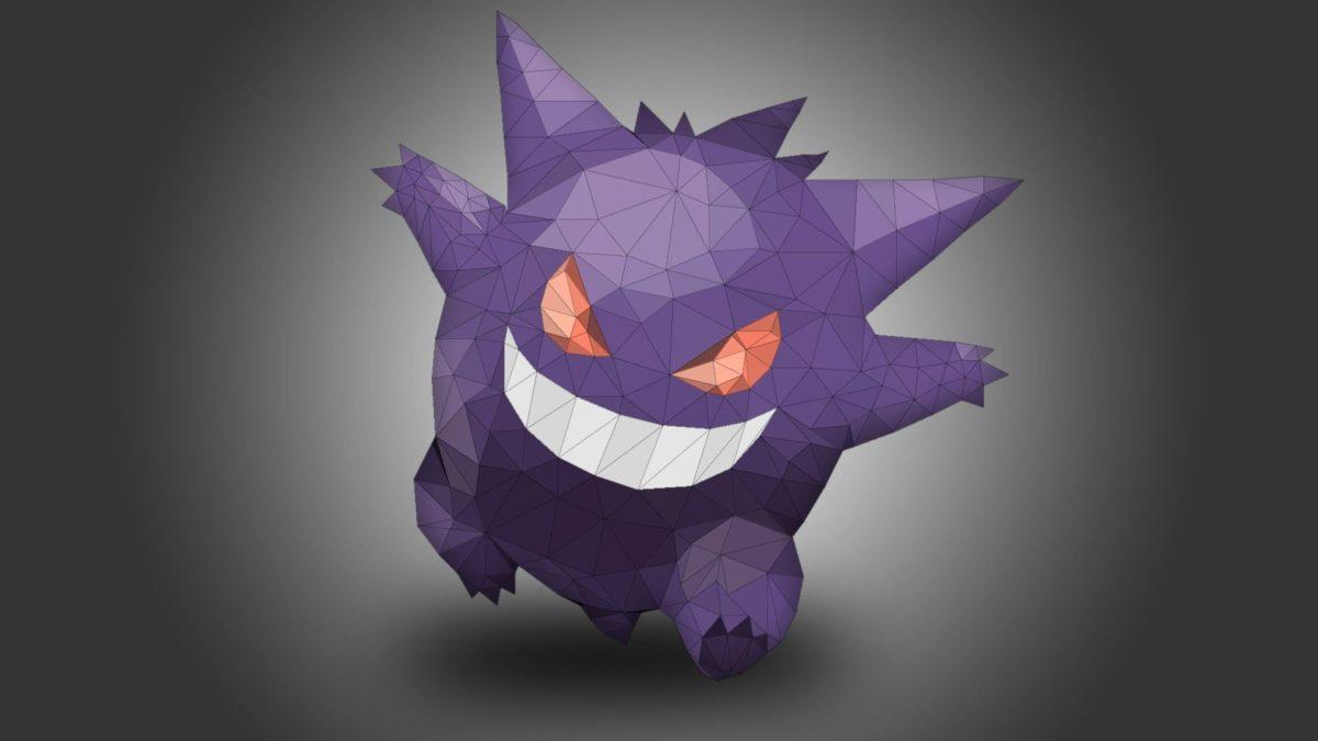Gengar, Pokémon, Low poly HD Wallpapers / Desktop and Mobile …